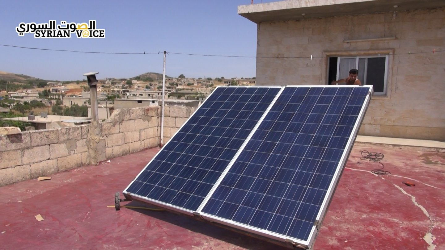 ٍResidents of opposition areas turn to solar, wind to solve energy crisis